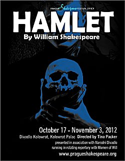 Jessica Boone stars as Ophelia in Hamlet for the Prague Shakespeare Festival in association with the National Theatre of the Czech Republic